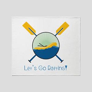 Go Rafting Throw Blanket