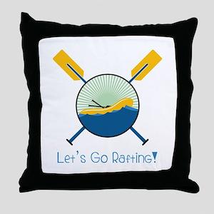 Go Rafting Throw Pillow