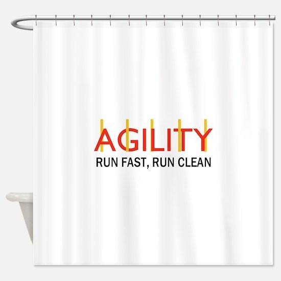 RUN FAST RUN CLEAN Shower Curtain