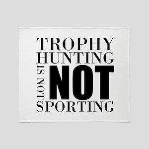Trophy Hunting Throw Blanket