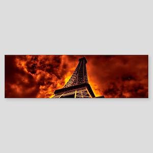Eiffel Tower in fire Bumper Sticker