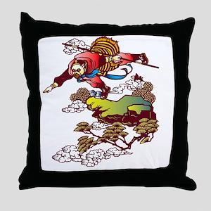 Monkey God Hanuman Throw Pillow