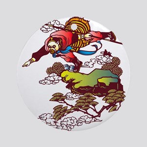 Monkey God Hanuman Round Ornament