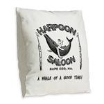 HARPOON SALOON-CAPE COD,MA Burlap Throw Pillow