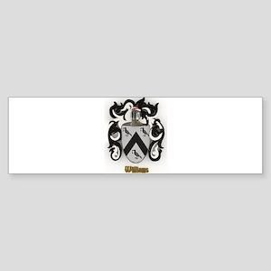 Williams Family Crest Bumper Sticker