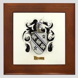 Brown Family Crest Framed Tile
