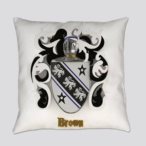 Brown Family Crest Everyday Pillow