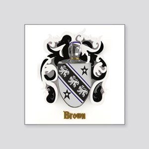 Brown Family Crest Sticker