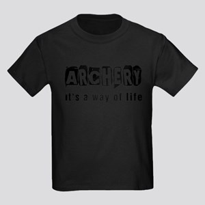 Archery it is a way of life Kids Dark T-Shirt