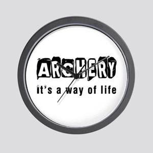 Archery it is a way of life Wall Clock