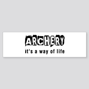 Archery it is a way of life Sticker (Bumper)