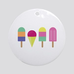 Popsicles Round Ornament