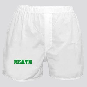 Heath Name Weathered Green Design Boxer Shorts