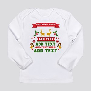 personalized add Text C Long Sleeve Infant T-Shirt