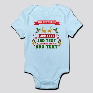 personalized add Text Christmas Infant Bodysuit