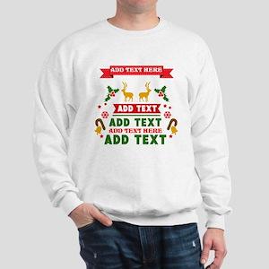 personalized add Text Christmas Sweatshirt