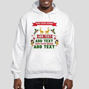 personalized add Text Christmas Hooded Sweatshirt