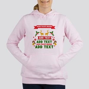 personalized add Text Ch Women's Hooded Sweatshirt