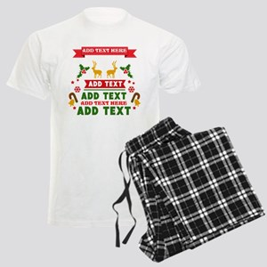 personalized add Text Christm Men's Light Pajamas