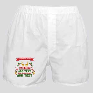 personalized add Text Christmas Boxer Shorts