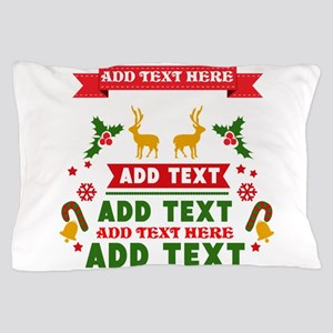 personalized add Text Christmas Pillow Case