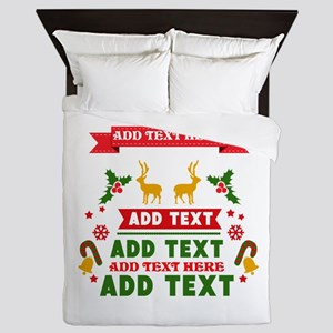 personalized add Text Christmas Queen Duvet