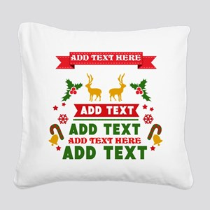 personalized add Text Christm Square Canvas Pillow