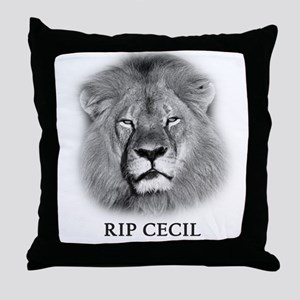 RIP Cecil The Lion Throw Pillow