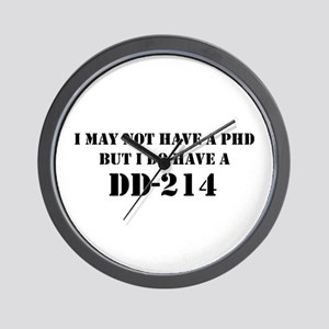 """DD-214 (Stencil)"" Wall Clock"