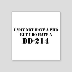 """""""DD-214 (Stencil)"""" Square Sticker 3"""" x 3"""""""