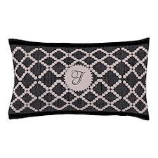 Cute Pink Black Pattern Pillow Case