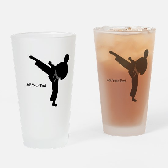Karate Drinking Glass