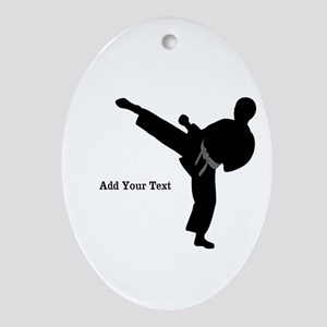 Karate Oval Ornament