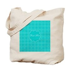 Cute Bright Turquoise Pattern Tote Bag