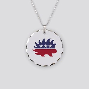 Libertarian party Necklace Circle Charm