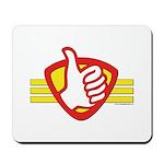 L H Superhero Logo Mousepad