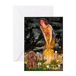 Fairies & Ruby Cavalier Greeting Card