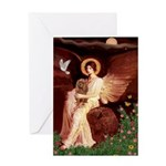 Seated Angel & Ruby Cavalier Greeting Card