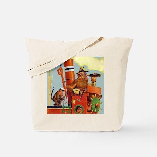 MONKEYS ON BOARD Tote Bag