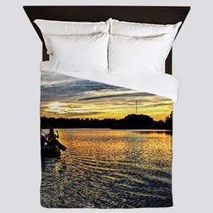 Canoeing on the Charles River Queen Duvet