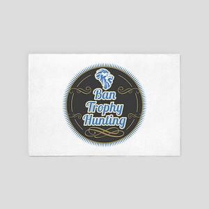 Ban Trophy Hunting 4' x 6' Rug