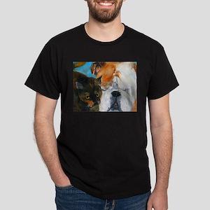 Baby the Bulldog and Delilah Dark T-Shirt
