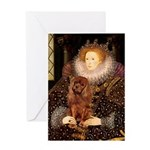 The Queen's Ruby Cavalier Greeting Card
