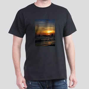 Sailboat Flotilla in Silhouette 3 T-Shirt