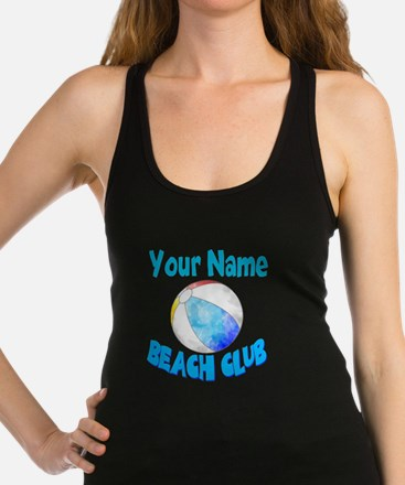 Beach Ball Club Racerback Tank Top