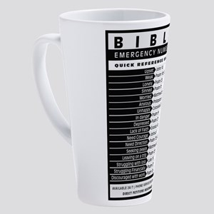 Bible emergency numbers 17 oz Latte Mug