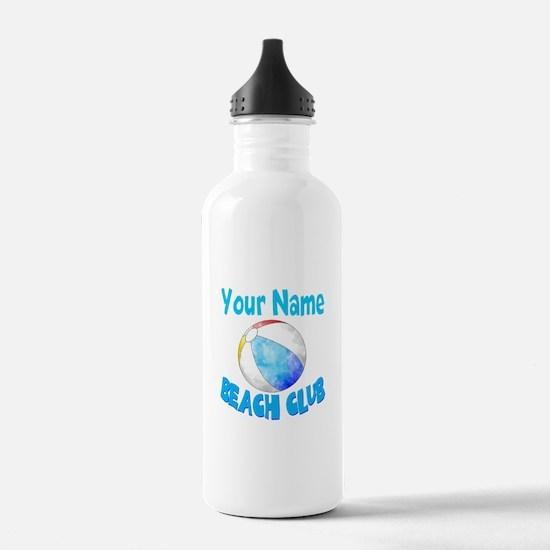Beach Ball Club Water Bottle