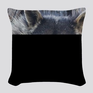 Raccoon in a Tree Woven Throw Pillow