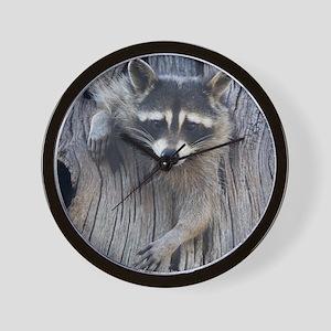 Raccoon in a Tree Wall Clock
