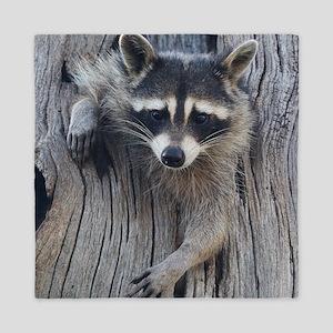 Raccoon in a Tree Queen Duvet